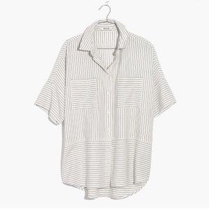 Madewell short sleeve flannel courier shirt